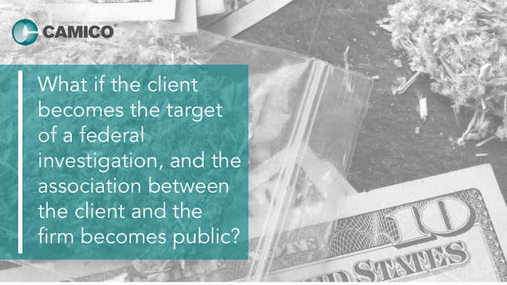 what if the client becomes the target of a federal investigation, and the association between the client and the firm becomes public?